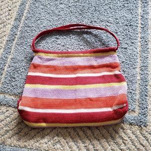 The Sak Original Striped Tropical Beach Bag Purse